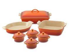 I love the Le Creuset Stoneware 12-Piece Bakeware Set on Williams-Sonoma.com