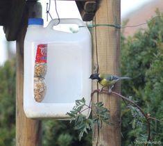 Кормушка для птиц из ненужной пластиковой тары