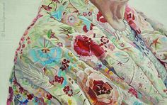 Portrait Painting . Detail IV .  Acrylic on Board . 77cm x 107cm .
