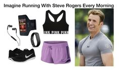 """""""Imagine Running With Steve Rogers Every Morning"""" by alyssaclair-winchester ❤ liked on Polyvore featuring NIKE, Fitbit, Skullcandy, imagine, Avengers, marvel, CaptainAmerica and steverogers"""