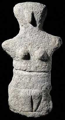 Neolithic, about 4500-3200 BC  From the island of Kárpathos, Aegean Sea  The earliest stone sculpture from Greece in the British Museum