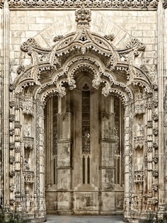 Portal to the unfinished chapels, Batalha, Portugal