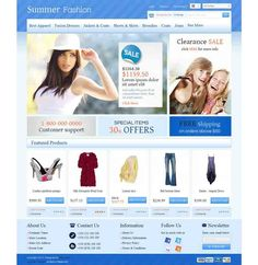 OC01A00586 Responsive OpenCart Template for Fashion Stores