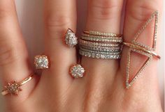 #finejewelry #jewelry #JaimieGellerJewelry For more info about these rings email us at shop@jaimiegellerjewelry.com