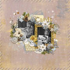 Template: In This Wild World by Two Tiny Turtles  Kit: White Christmas by Meagan's Creations