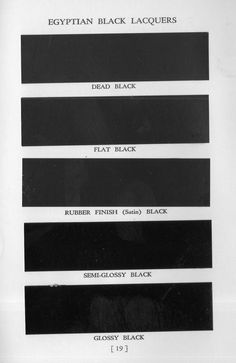 Egyptian Black Lacquer for Industrial Products (1938)