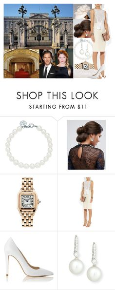 """""""Royal Crossover: Official welcoming in the Buckingham Palace for Prince Edward's and  Constance McClark's wedding"""" by princessofnorth ❤ liked on Polyvore featuring Tiffany & Co., ASOS, Rachel Trevor-Morgan, Cartier, Nina Ricci, L.K.Bennett and Assael"""