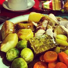 Day #342 - first #Christmas dinner of the season (including cracker!) at a #visitday dinner