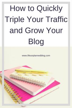 The number one question I get asked is about how to grow traffic to your blog. In this post I tell you exactly how I tripled mine... overnight.  Read on to find out How to Quickly Triple Your Traffic and Grow Your Blog.  Plus there's a free Blog Post Checklist >>