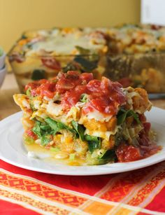 Winter Vegetable Lasagna with Marinara Sauce - citronlimette