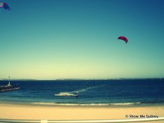 Kite-surfing at Brighton Le Sands
