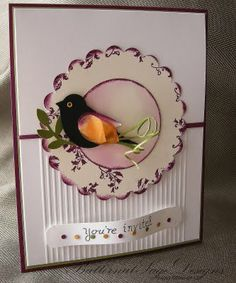 Friday, September 2 Butternut Sage Designs....: Simply Scored and challenges! CCMC165 Daydream Medallions, Bird Punch