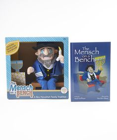 Limited Edition Plush Mensch On A Bench With Blue Tallit #zulily #zulilyfinds