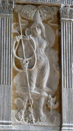 Agostino di Duccio, Mercury, 1450s. Marble relief.