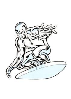Silver Surfer art by John Buscema, 1968 Dc Comics Girls, Dc Comics Art, Marvel Dc Comics, Marvel Villains, Marvel Heroes, Marvel Comic Books, Comic Books Art, Marvel Masterworks, Defenders Marvel