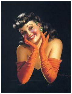 "Billy Devorss Pinup Girl Art Deco Print Glamour Beauty ""A Bundle of Joy"" Mint A+ Art Deco Artists, Art Deco Print, Modern Pin Up, Glamour Beauty, Calendar Girls, List Of Artists, Vintage Girls, Vintage Art, Vintage Prints"