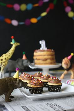 40 Wild Ideas for a Safari-Themed Party via Brit + Co. ((Make tiny party hats for the animals! Wild One Birthday Party, Safari Birthday Party, Circus Birthday, Animal Birthday, 2nd Birthday Parties, Birthday Hats, Birthday Ideas, Lion Birthday, Circus Party