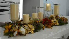 centro de mesa natalino com guirland aramada - Pesquisa Google