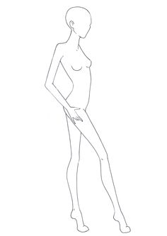 Side view fashion Figure Templates for Fashion Design and Illustration