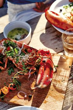 With Helene Henderson's MALIBU FARM COOKBOOK, and her recipe for Grilled Lobster and Lime Butter, you can bring the beach to you! (Or . . . at least to your stomach.)