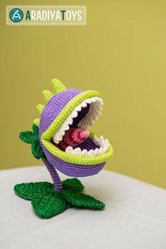 Crochet Pattern of Chomper from Plants vs Zombies by Aradiya