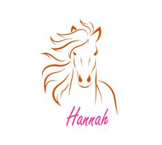 A nice personalized horse decal for that special horse person. The decal horse decal with name measures approx. 22 X 31 inches when assembled as