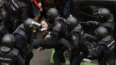 Images from Catalonia where a massive police operation is under way to halt the disputed referendum.