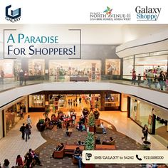Don't just love shopping. Live Shopping @ Galaxy Shopee, A part of Galaxy North Avenue II. Galaxy 2, Apartments, Live, Luxury, Shopping, Penthouses, Flats