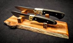 Dos Hombres Skinning Knife Set with Duo by RenesansWoodcrafts