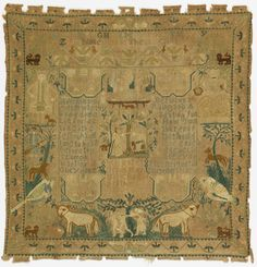 Sampler (USA), 1737 | Objects | Collection of Cooper Hewitt, Smithsonian Design Museum