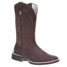 Compre Via Boots : Bota Country de Couro Masculina Via Boots Tabaco 20062 por R$315,18 - Rodeo West
