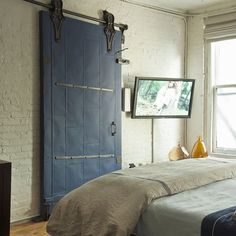 French industrial-chic bedroom