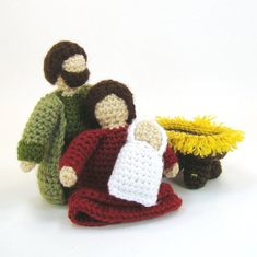 Nativity Set Christmas Holiday Playscape Toys PDF Crochet Pattern Mary, Joseph, baby Jesus, and Manger. $4.99, via Etsy.