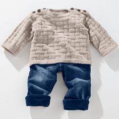 Modell 246/2 Babypulli aus Freizeit uni 4-fädig von Junghans-Wolle « Babymodelle « Strickmodelle Junghans-Wolle « Stricken & Häkeln - Stricken: Süße Babypullover, Babyjacken und vieles mehr im Junghans-Wolle Creativ-Shop kaufen