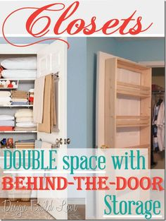 Double Your Closet Size with Door Storage (ideas and inspiration)