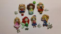 Lotto 7 bamboline in fimo con charms abbinati, by GattaNera, 18,00  su misshobby.com