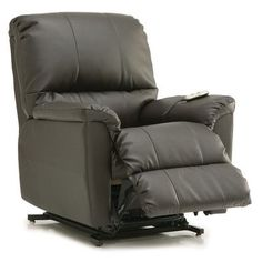 Palliser Furniture Grady Lift Chair Upholstery: Bonded Leather - Champion Mink, Leather Type: Bonded Leather, Type: Power