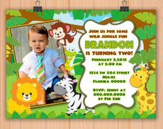 safari boy invitation – Etsy