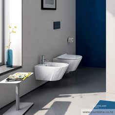 Zero 55 Wall Hung Toilet With Slim Seat - Toilets & Bidets - Bathroom Hanging Pans, Concealed Cistern, Wall Hung Toilet, Perfect Angle, Bathroom Trends, Decoration, Contemporary Design, Flooring, Toilets