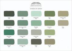 Kleurkaart Shades of Green