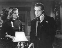"Lauren Bacall and Humphrey Bogart in 'The Big Sleep'. #Bogart #TheBigSleep #Film #FilmNoir"""
