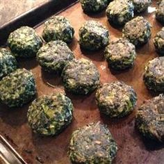 Delicious Herbed Spinach and Kale Balls Allrecipes.com Need to look for frozen kale before trying. Says kids love them.
