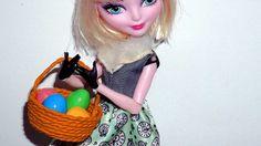 Como fazer cesta de páscoa para boneca Barbie, Monster High, Frozen, EAH...