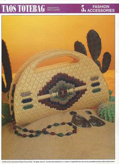 Taos Tote Bag Plastic Canvas Pattern by needlecraftsupershop, $7.50