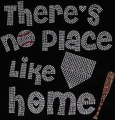 Rhinestone Iron On There's NO Place Like Home by BlingMeBaby, $12.99