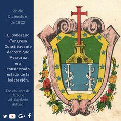 #UnDíaComoHoy pero de 1823, el Soberano Congreso Constituyente decretó que #Veracruz era considerado estado de la federación. #HistoriaDeMéxico #ELDEH #ConoceTuHistoria