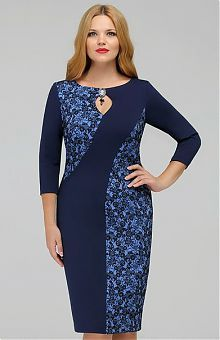 Платья для полных женщин: купить женские платья больших размеров в интернет…