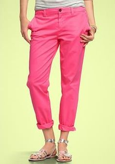Pink slacks, great with nautical tops
