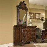 ART Furniture - Old World Drawer Dresser With Crowned Landscape Mirror - 43131-2606/43121-2606  SPECIAL PRICE: $1,492.26