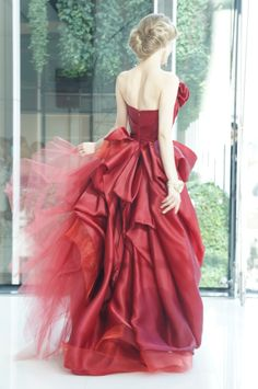 #NOVARESE #wedding #dress #press show #wedding dress #ノバレーゼ #ウエディング #ウエディングドレス#RUBIN SINGER #ルビン・シンガー #RED #colordress #赤 #カラードレス